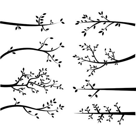 Illustration pour Branch Silhouettes - image libre de droit