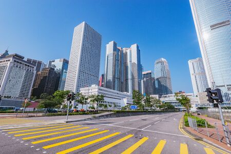 Photo for Day view of the city streets. Central District. Hong Kong. - Royalty Free Image