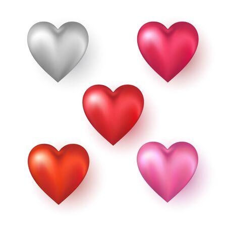 Photo pour Heart shapes on white background. Vector illustration. - image libre de droit