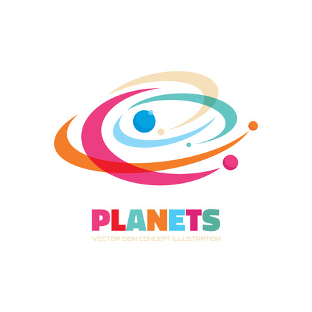 Planets vector  concept. Abstract planets illustration. Solar system concept illustration. Galaxy sign.