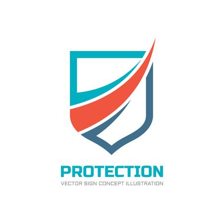Illustration pour Protection - vector logo concept illustration. Abstract shield logo sign. Design element. - image libre de droit