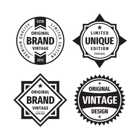Illustration for Business badges vector set in retro vintage design style. - Royalty Free Image