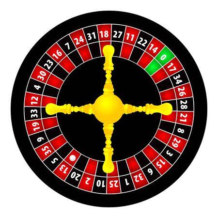 roulette illustration on white background