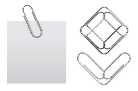 Illustration pour sticky note with paper clip - image libre de droit