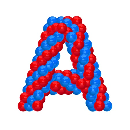 letter A from balloon