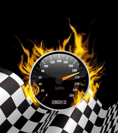 Illustration pour Racing Background  - image libre de droit