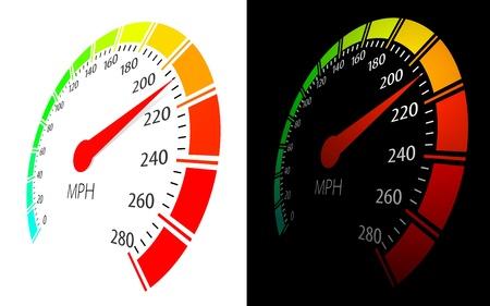 Illustration pour Vector speedometer  in perspective view - image libre de droit