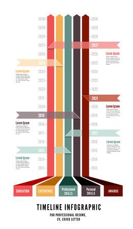 Timeline Web Element Template. Vector illustration on white