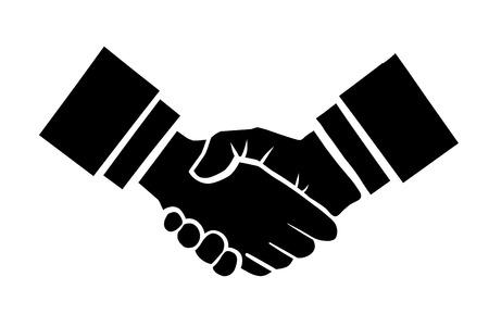 Illustration pour Handshake vector illustration. Background for business and finance - image libre de droit