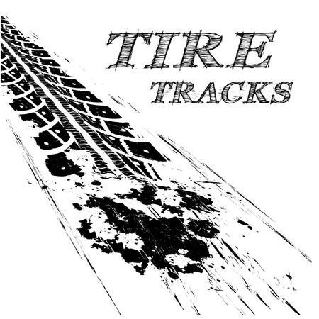 Tire tracks