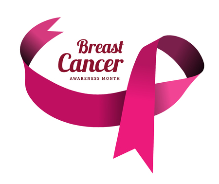 Illustration pour Breast cancer awareness symbol, isolated on white. illustration - image libre de droit