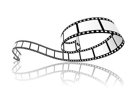 Illustration for Film strip vector illustration - Royalty Free Image