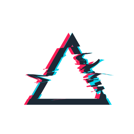 Illustration pour Glitch distortion frame. Vector triangle illustration - image libre de droit
