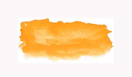 Illustration pour Watercolor splash texture. Blob, spot hand-drawn frame on white background - image libre de droit