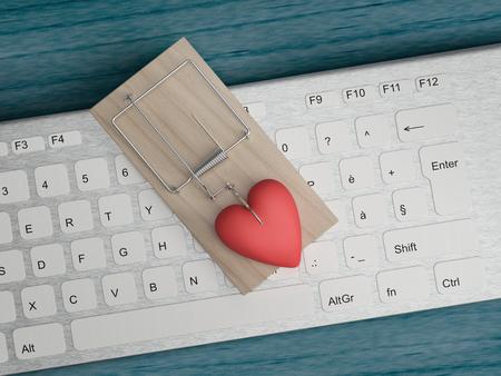 Foto de online cyber love and fraud concept - Imagen libre de derechos