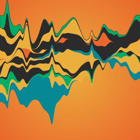 Illustration pour Big data visualization. Streamgraph. Futuristic infographic. Information aesthetic design. - image libre de droit
