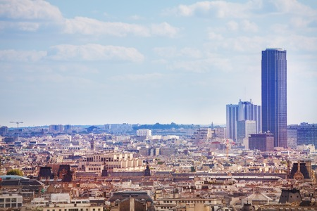 Photo for View of the Paris Montparnasse district and tower - Royalty Free Image