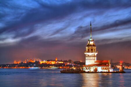 Maiden's Tower at night