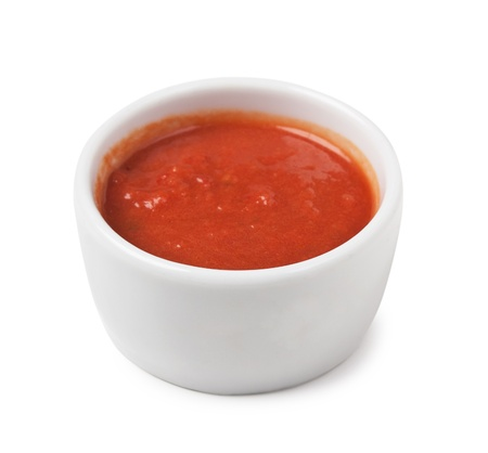 red sauce isolated on white background