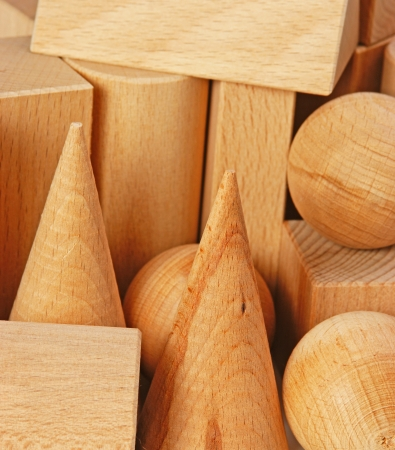 wooden geometric shapes