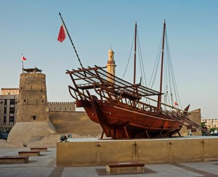 Photo pour Traditional Arabic Dhow at the Dubai Museum - image libre de droit