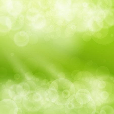 Green Abstract Bokeh Background, Spring Background, Soft Glow of the Sun ,Defocused Lights, Illustration