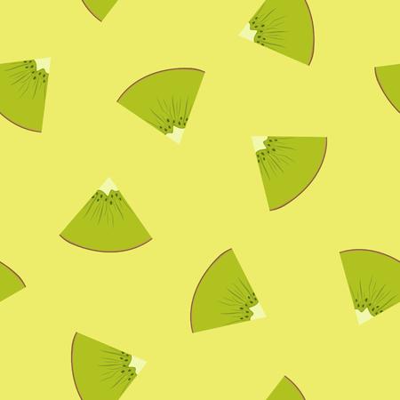 Pattern with a Slice of Kiwi fruit