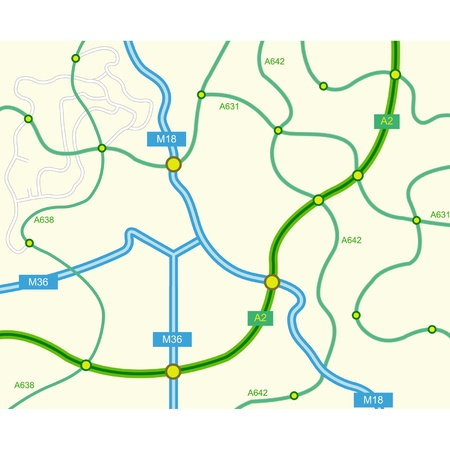 vector illustration of abstract road map