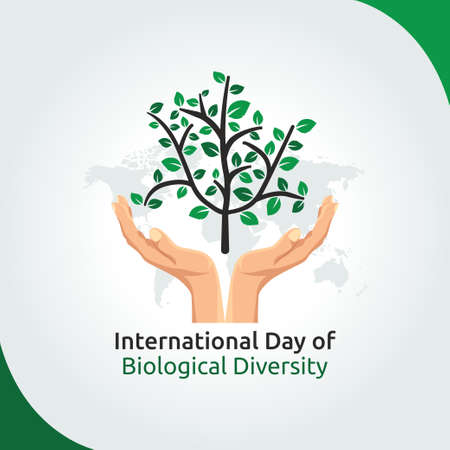 Illustration for vector graphic of international day of biological diversity good for day of biological diversity celebration. flat design. flyer design.flat illustration. - Royalty Free Image