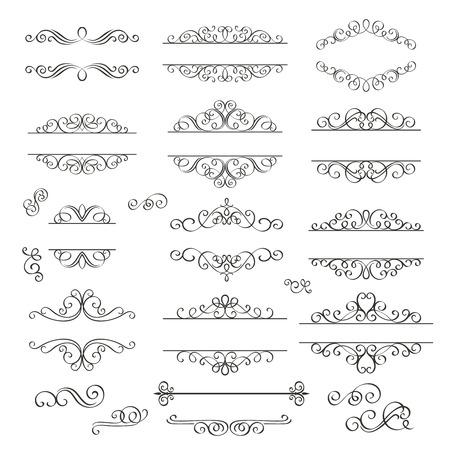 Illustration pour Set swirls decorative design  elements . Decorative Victorian  style. - image libre de droit