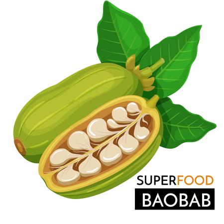 Illustration pour Baobab vector icon. - image libre de droit