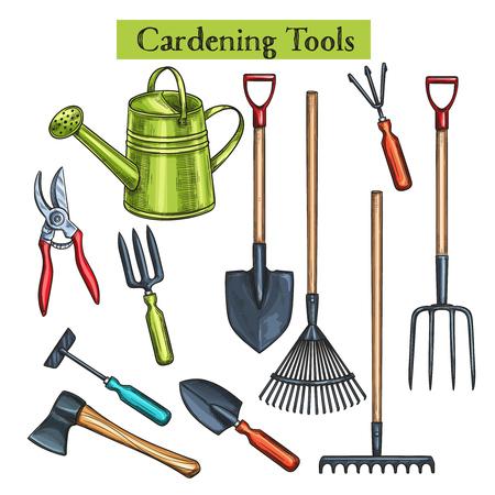Illustration pour Gardening tools - image libre de droit