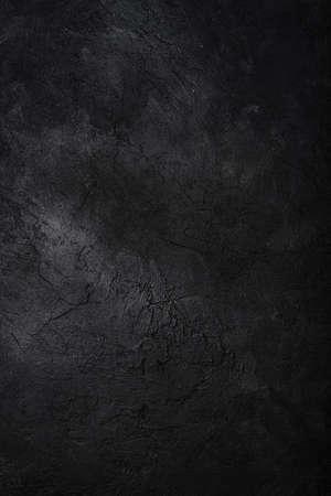 Photo pour Dark textured concrete wall background. Copy space - image libre de droit