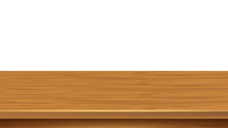 Illustration pour Wooden Shelf Empty Bookshelf Space Surface Vector - image libre de droit