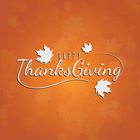 Illustration pour Thanksgiving day typography illustration for card, banner, poster or background. Autumn colors backkdrop - image libre de droit