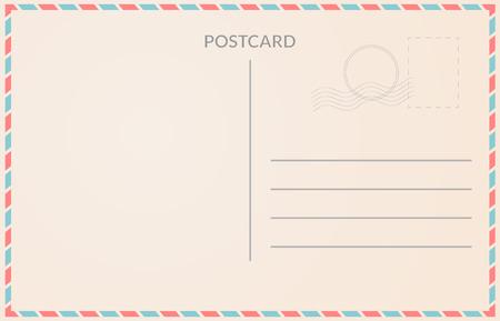 Illustration pour Realistic old postcard illustration red and blue borderline - image libre de droit