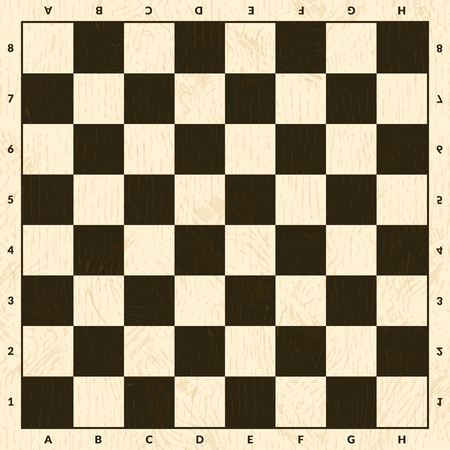 Illustration pour Chess game board. Wooden checkerboard background illustration - image libre de droit