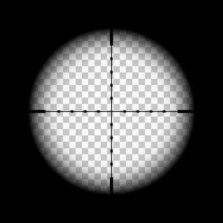 Illustration pour Rifle gun crosshairs illustration with transparent background - image libre de droit