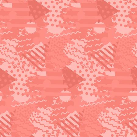 Ilustración de Abstract pattern with liquid shapes in trendy coral color - Imagen libre de derechos