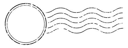 Illustration pour Imprint of a postage stamps cancellation seal. - image libre de droit
