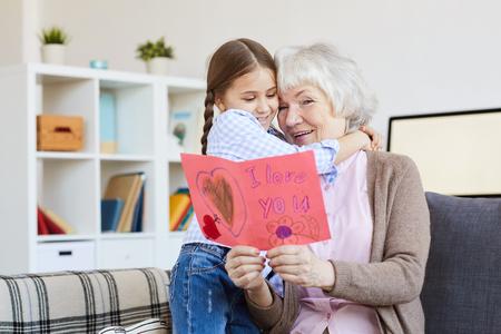 Photo pour I Love You Card for Grandma - image libre de droit
