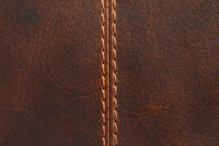 brown leather texture with seam