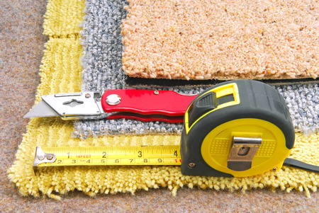 carpet fitting with tools