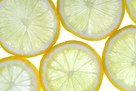 Photo pour lemon slces back lit background - image libre de droit