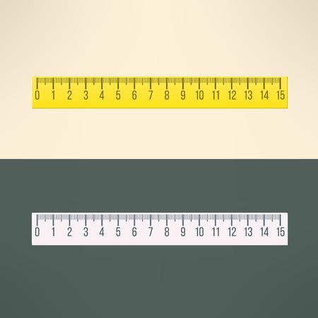 Illustration pour Vector realistic ruler tool. Education and office design element. - image libre de droit