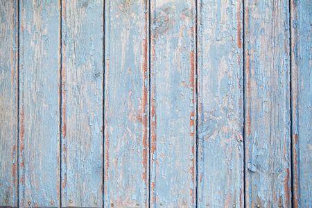 Photo pour old blue wooden fence, texture for background. - image libre de droit