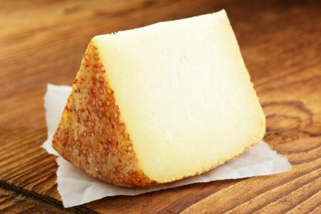 Pecorino, typical italian sheep cheese, selective focus