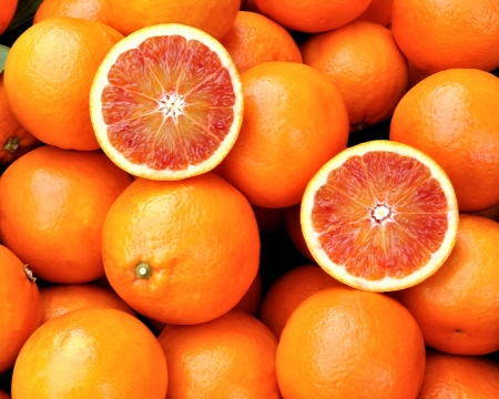 Red oranges of Sicily, Italy