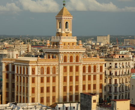 View of the varied architecture across the skyline of Havana, Cuba