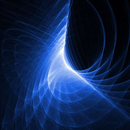 abstract dark blue chaos rays on dark background